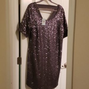 Sequin Knee Length Dress